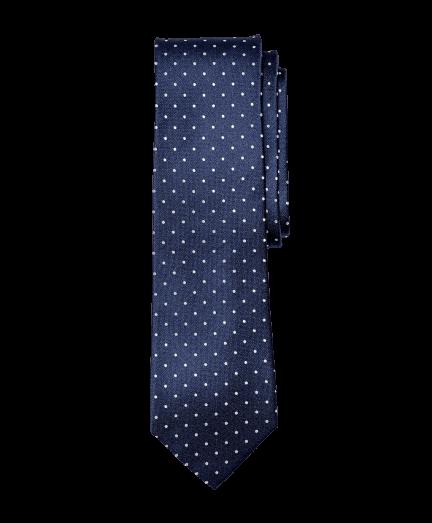 Sötétkék alapon fehér pöttyös nyakkendő