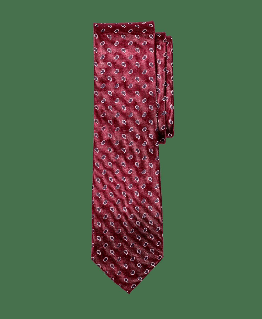 Bordó alapon sötétbordó mintás nyakkendő