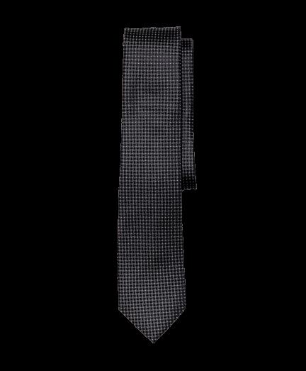 Fekete apró négyzetes nyakkendő