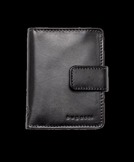 Mélyszürke férfi bőr pénztárca RFID védelemmel