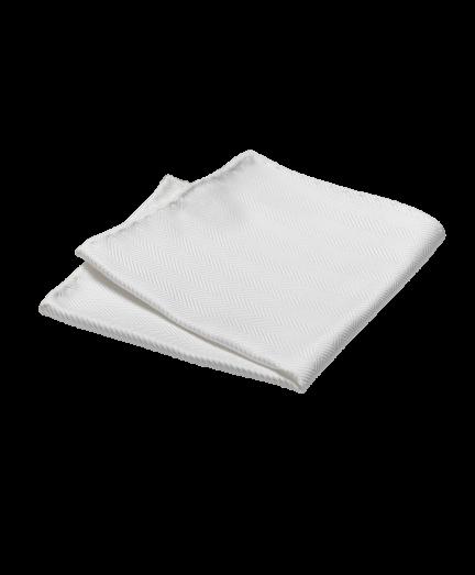 Fehér halszálka mintás pamut díszzsebkendő
