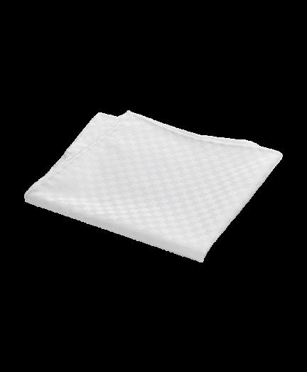 Fehér négyzet mintás pamut díszzsebkendő