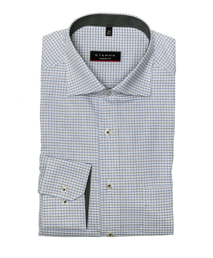 Fehér alapon kék és zöld apró kockás férfi ing