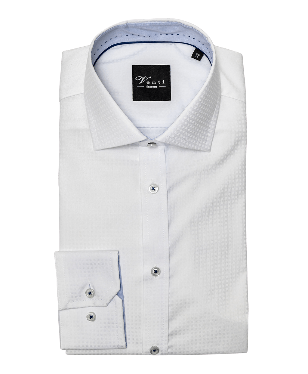 Fehér anyagában kockás férfi ing