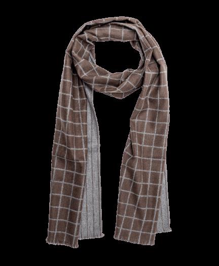 Variálható szürke-barna színű selyem sál