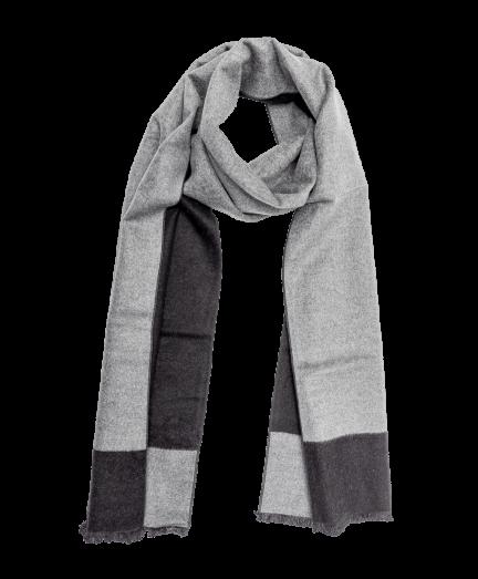 Fekete-szürke színű selyem sál