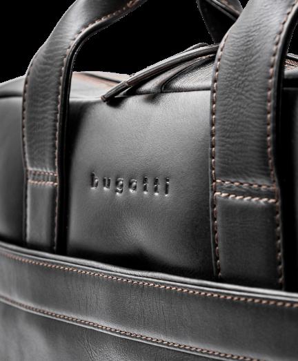 Bugatti sötétbarna nappa bőr aktatáska
