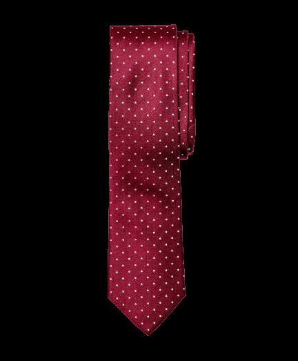 Bordó alapon fehér pöttyös nyakkendő