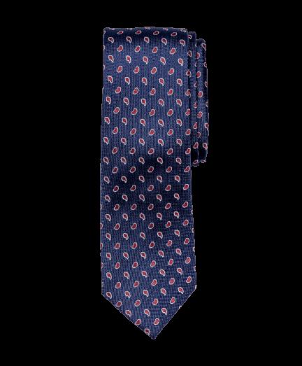 Sötétkék alapon bordó mintás nyakkendő