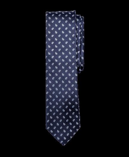 Sötétkék alapon világoskék mintás nyakkendő
