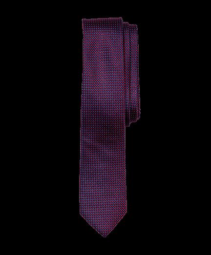 Sötétbordó apró négyzetes nyakkendő