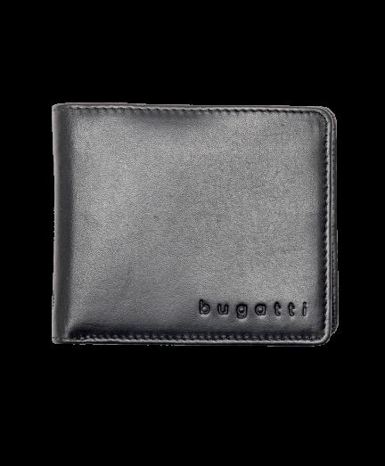 Fekete férfi bőr pénztárca RFID védelemmel