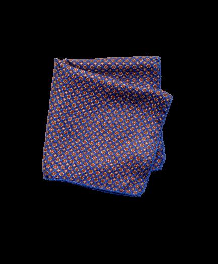 Mindkét oldalán mintás selyem díszzsebkendő