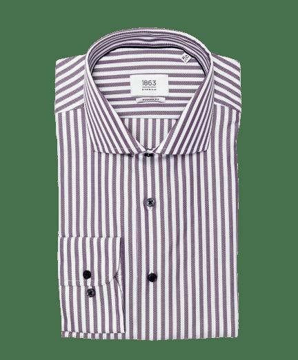 Fehér alapon lila csíkos férfi ing