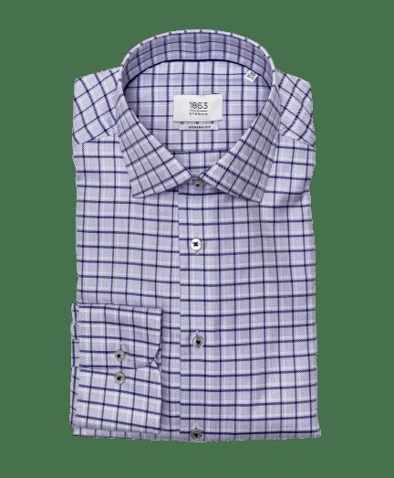 Halvány lila kockás férfi ing