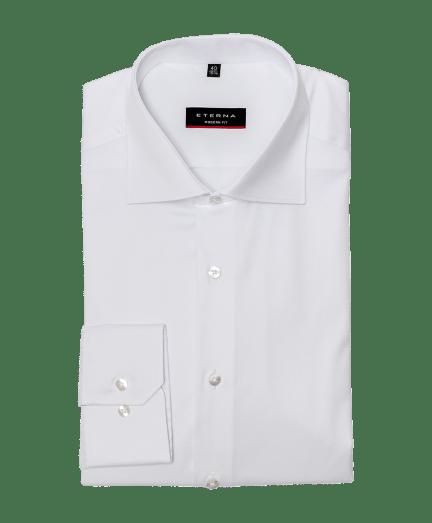 Férfi modern fit cover shirt fehér színben