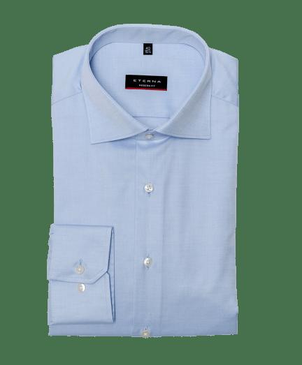 Férfi modern fit cover shirt vilagoskék színben