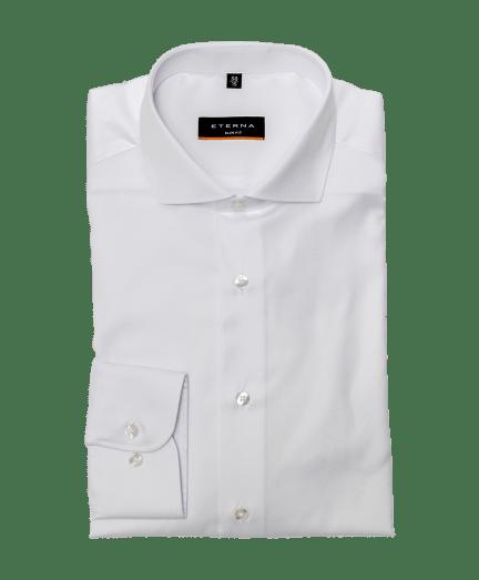 Férfi slim fit cover shirt fehér színben